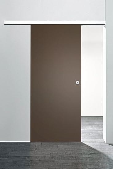 Puerta de madera puerta corrediza habitaciones 880 x 2035 mm Carril Puerta Interior Juego completo con unidad de madera & Puerta, Marrón: Amazon.es: Bricolaje y herramientas