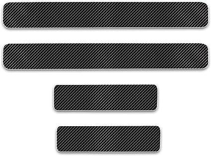8X-SPEED para Vitara 4D M Fibra de Carbono Pegatinas Sill/ín Pedal Proteger Umbral Cubierta Car Styling Sticker 4 Piezas Blanco