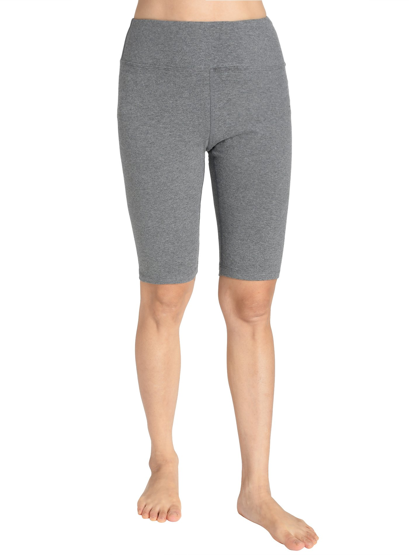 fea6ee531a Galleon - Weintee Women's Cotton Spandex Yoga Shorts Workout Gym Shorts S  Heather Gray