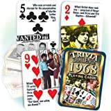 Flickback Media, Inc. 1968 Trivia Playing Cards: 50th Birthday or Anniversary Gift