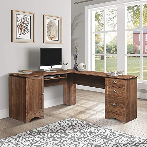 DEPOINTER L-Shaped Computer Desk Writing Table 66 x 66 Inche