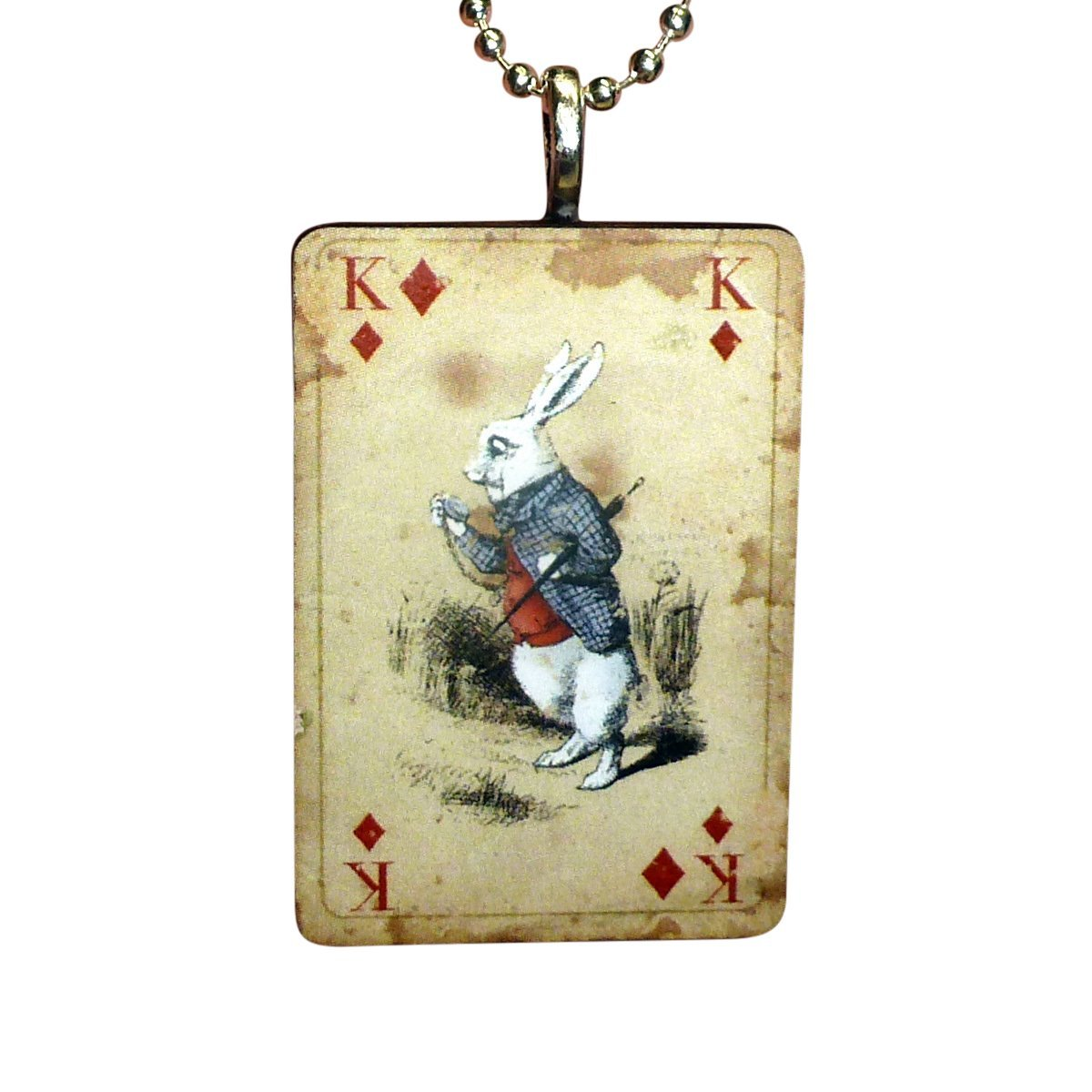 UMBRELLALABORATORY Alice in Wonderland Necklace-Jewelry in Vintage Look Style Comes if Box