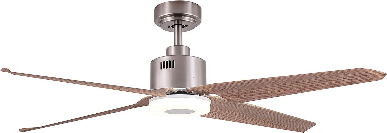 Sulion Aleix Ventilador De Techo, Niquel: Amazon.es: Iluminación