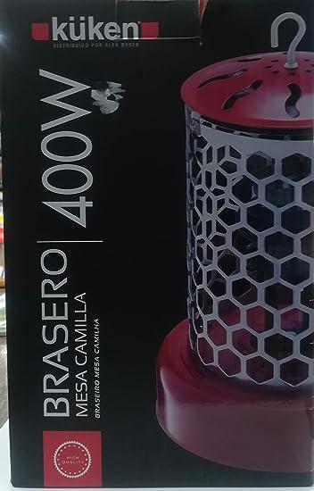 Alfa 14102 - Brasero mesa camilla 400w. kuken: Amazon.es ...
