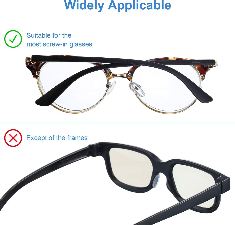 Brillenpads mit MINI Schrauben Set und Brillen Ohrenhaken im Brillen Nasenpads