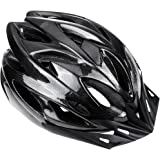 Zacro Lightweight Cycle Helmet Adjustable Thrasher for Adult with Detachable Liner with Water and Dust Resistant Cover, Black