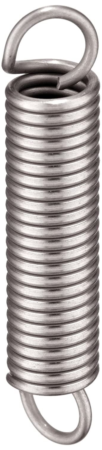 Metric 1.52 N//mm Spring Rate 1 mm Wire Size 34 mm Free Length 302 Stainless Steel Pack of 10 37.7 N Load Capacity Associated Spring Raymond T41590 Extension Spring 7 mm OD 54.4 mm Extended Length