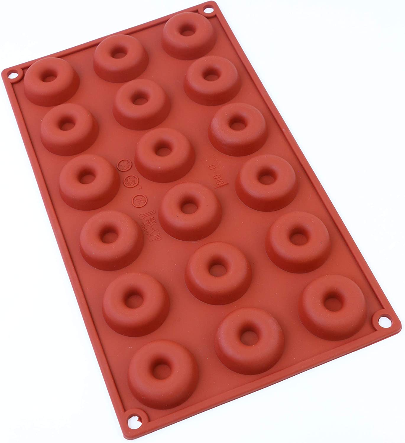Oggibox 18-Cavity Mini Donut Pan, Muffin Cups, Cake Mold, Biscuit Mold, for Donut Cake Bread Cupcake Cornbread Muffin Cups doughnuts Pan and More