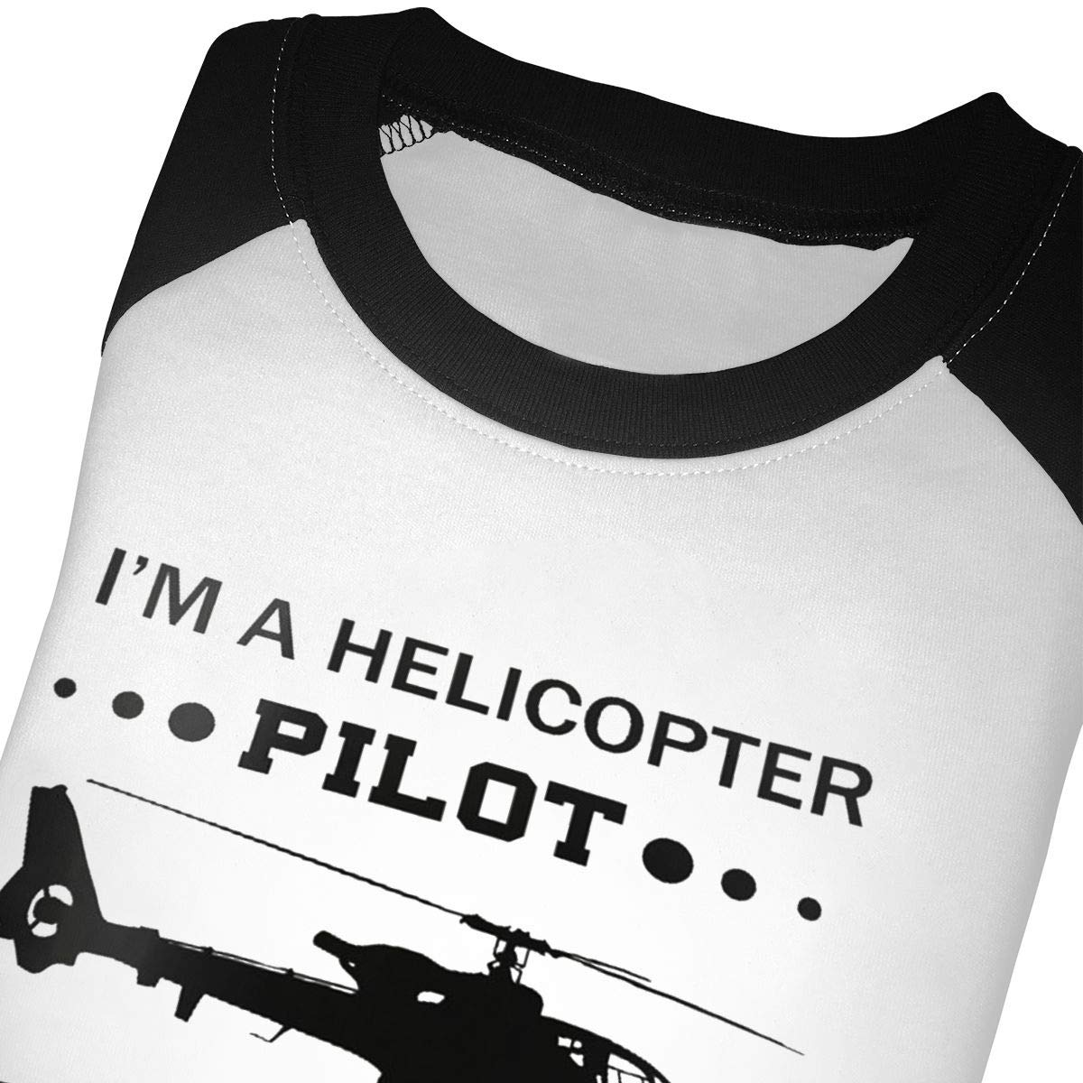Manlee I M A Helicopter Pillot But Way Cooler Unisex 100/% Cotton Childrens 3//4 Sleeves T-Shirt Top Tees 2T~5//6T