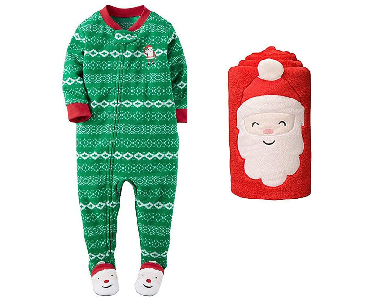 f41ad6171518 Amazon.com  Carters Baby Boys Fleece Footed Pajamas with Blanket ...