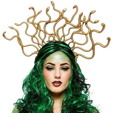 Womens Medusa Serpiente Headpiece en la venda: Amazon.es: Juguetes y juegos