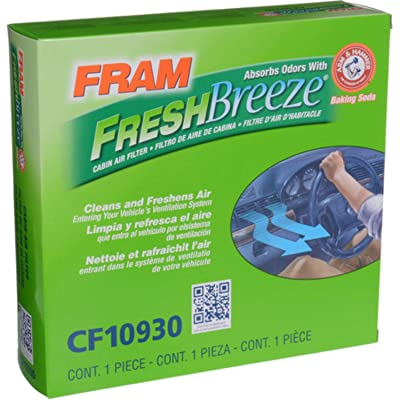 FRAM CF10930 Fresh Breeze Cabin Air Filter with Arm and Hammer: Automotive