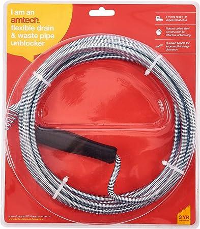 Amtech S1895 Flexible de vidange /& Déchets Tuyau déboucheur Taille Unique