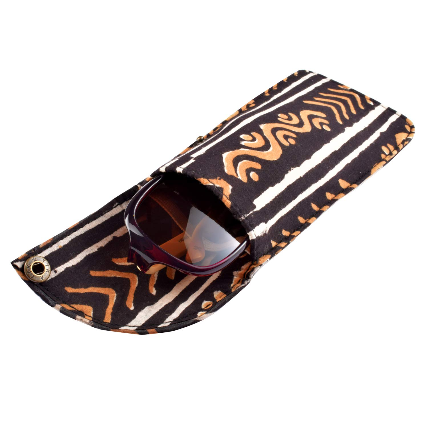 Ethniche Designs Handprinted cotton Pouch//Case Cover for SunGlass//Spectacles
