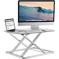 Mount-It! Standing Desk Converter, Height Adjustable Sit Stand Desk, 31x22 Inch Preassembled Stand Up Desk Converter…