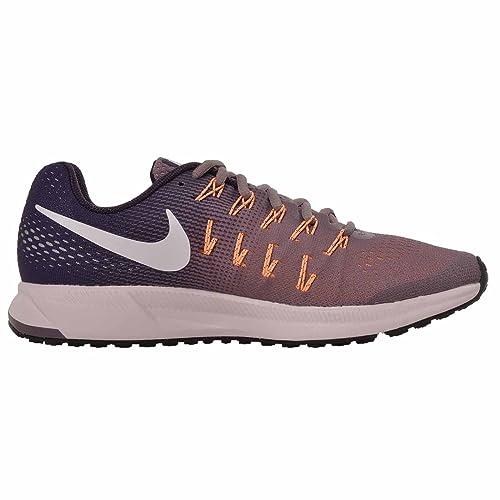 75c3cb562aa0f Amazon.com  Nike Air Zoom Pegasus 33 Purple Smoke Purple Dynasty Peach Cream  White Women s Running Shoes  Shoes