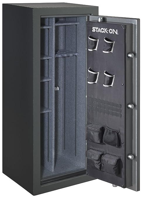 Stack-On TD-24-GP-ES Total Defense 22-24 Gun Safe with Electronic Lock,  Gray Pebble