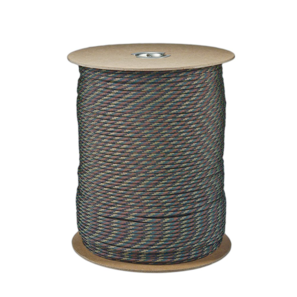 Paracord Planet Brand Nylon 550lb Type III Commercial Grade 7 Strand Paracord Made in USA 1000 Ft Spools (Camo Pattern)