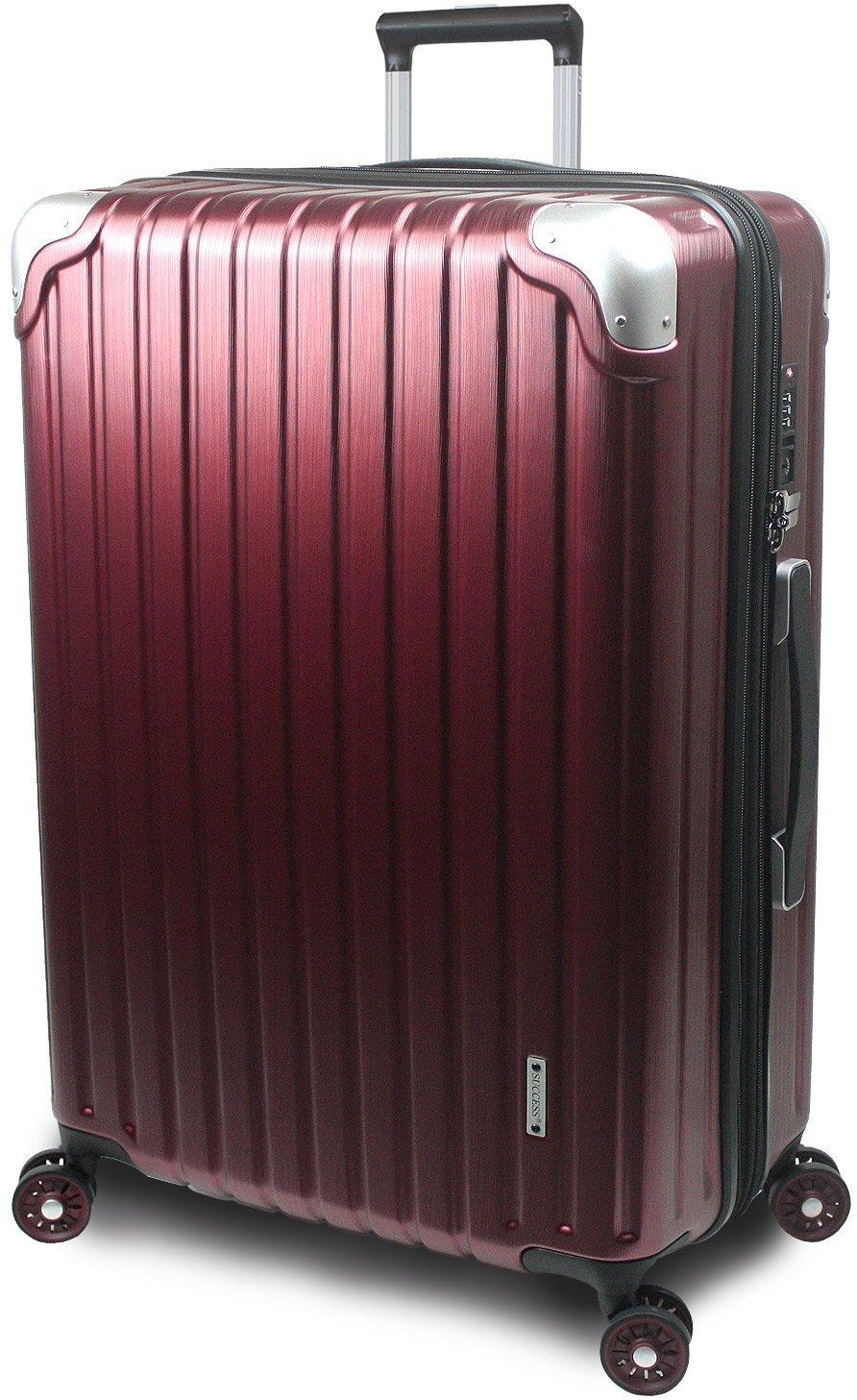 【SUCCESS サクセス】 スーツケース 3サイズ 【 大型 76cm/ジャスト型 70cm/中型 65cm 】 超軽量 TSAロック搭載 【 プロデンス コーナーパットモデル】 B01ELOM2QU 中型 Mサイズ 65cm|ワインヘアライン ワインヘアライン 中型 Mサイズ 65cm