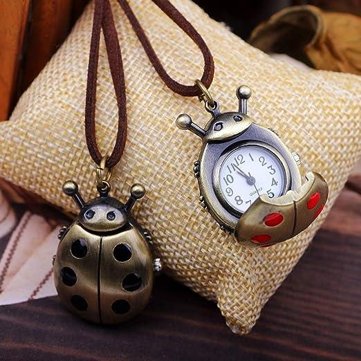 Reloj de bolsillo para Hombre con Cadena, Lindo Escarabajo ...