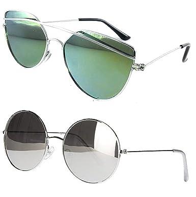 a06ebcedb5 ... of UV Protected Cateye Stylish Mercury Sunglasses For Men Women Boys    Girls (DRSGM-RDSM