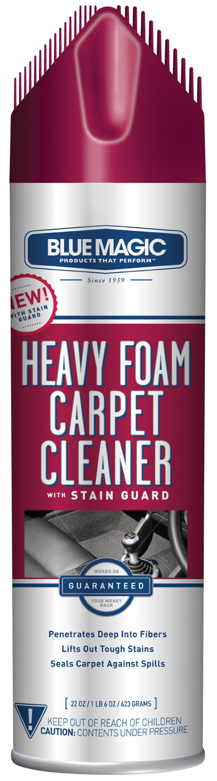 Blue Magic 912 Heavy Foam Carpet Cleaner with Stain Guard - 22 oz.