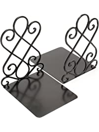 Fasmov Art Bookends,1 Pair(Black)