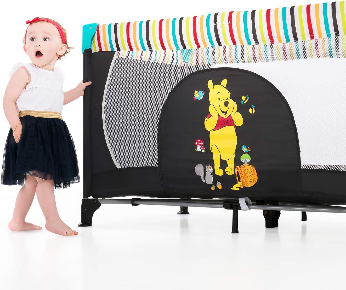 de 0+ meses hasta 15 kg bebe verde Hauck Dream N Play incluido colch/óncito y bolsa de transporte ligera y estable plegado y montaje f/ácil Cuna de viaje 3 piezas 120 x 60cm