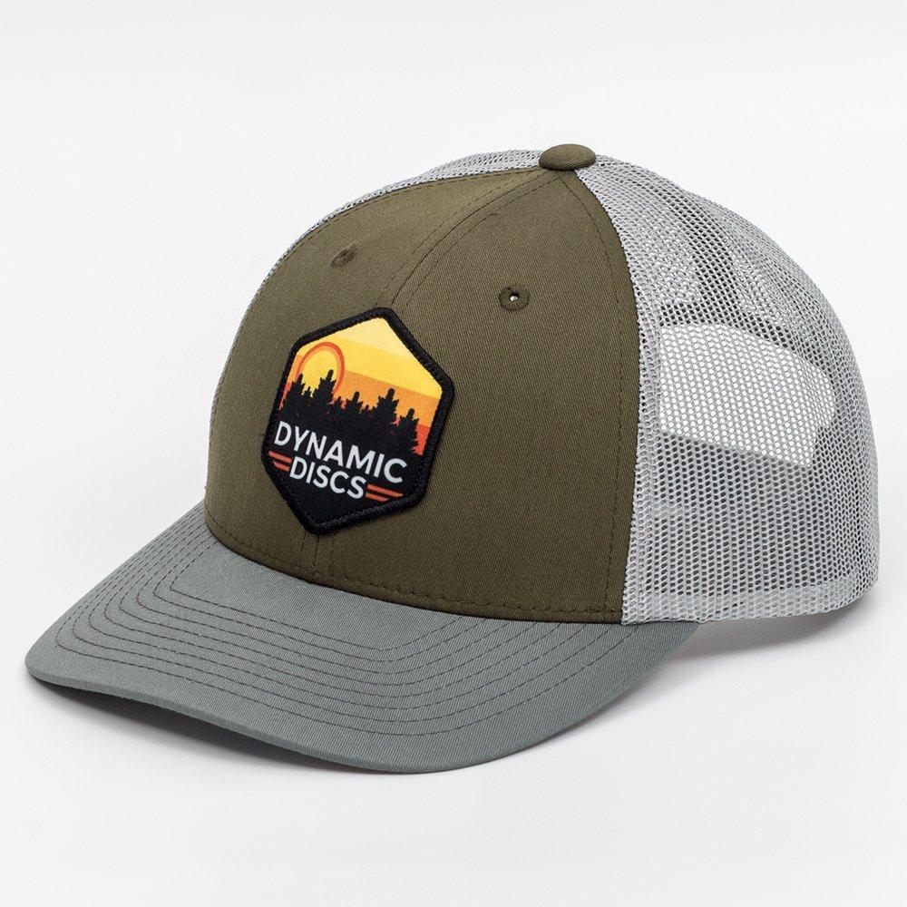 ダイナミックDiscsサンセット六角スナップバックメッシュディスクゴルフ帽子 B078YDBF3T Olive Green w/ Gray