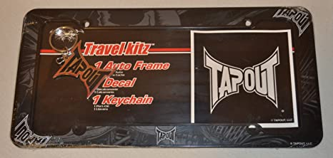 Amazon.com : TAPOUT 6024 License Plate Frame w/Keychain ...