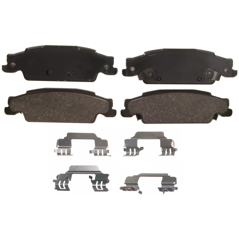 Pro Braking PBR2234-TPU-SIL Rear Braided Brake Line Transparent Purple Hose /& Stainless Banjos