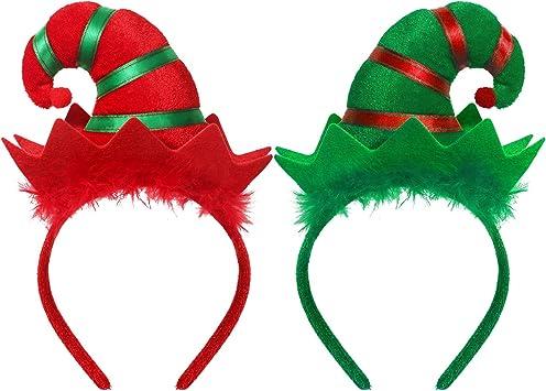 Cerchietto Donna NATALE Elfo Natale Cappello Costume Accessorio Fascia Per Capelli Testa