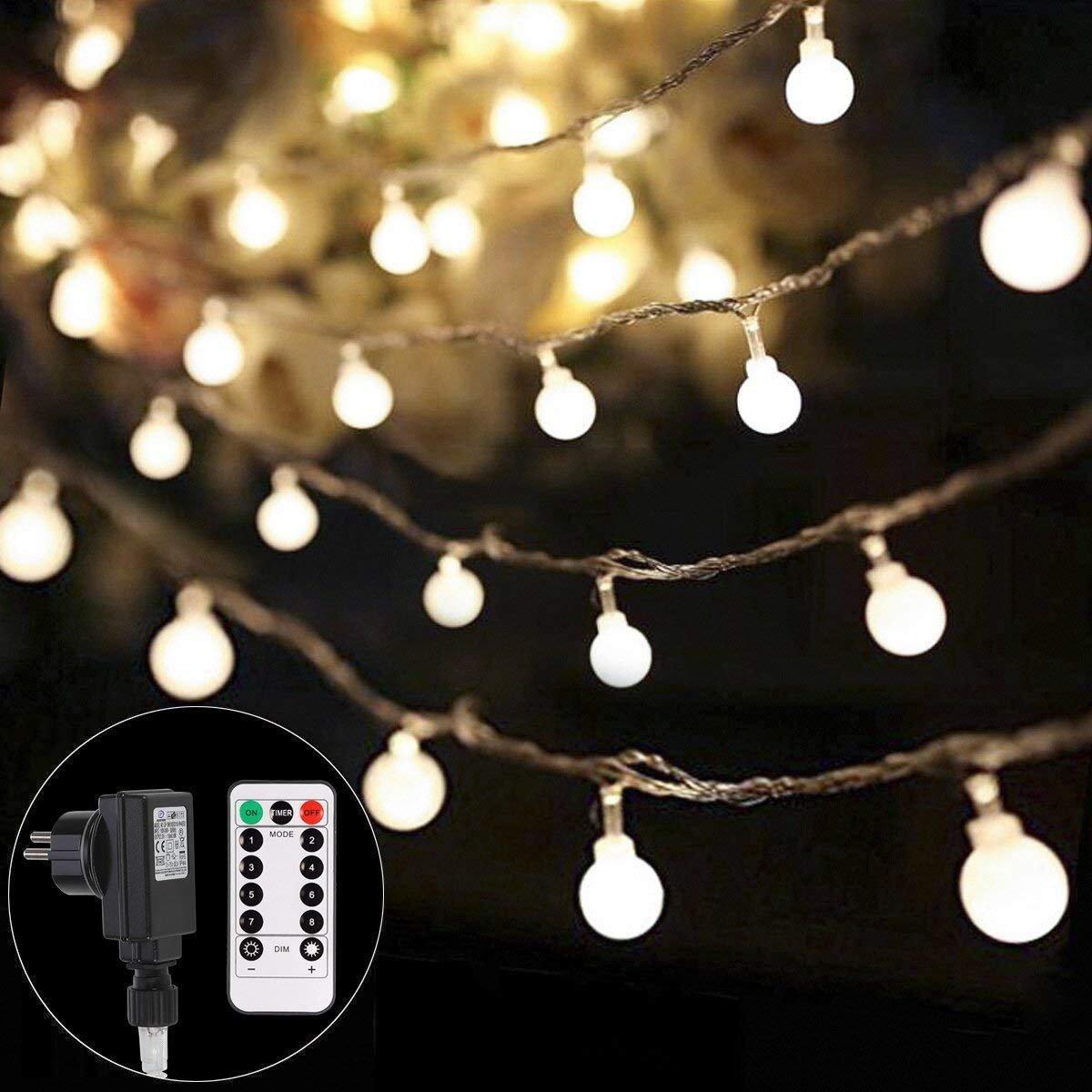 Lichterkette strombetrieben B-right 100 LED Globe