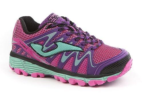 Joma - Zapatillas para Correr en montaña de Material Sintético para niña Azul Navy: Amazon.es: Zapatos y complementos