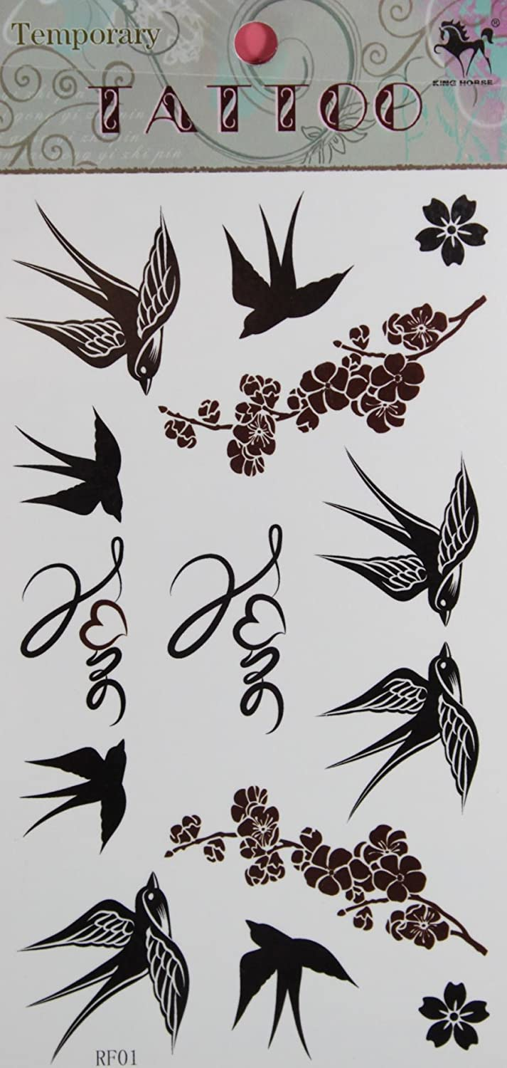 SPESTYLE waterproof non-toxic temporary tattoo stickers new design Swallow and Plum temporary temporary tattoos