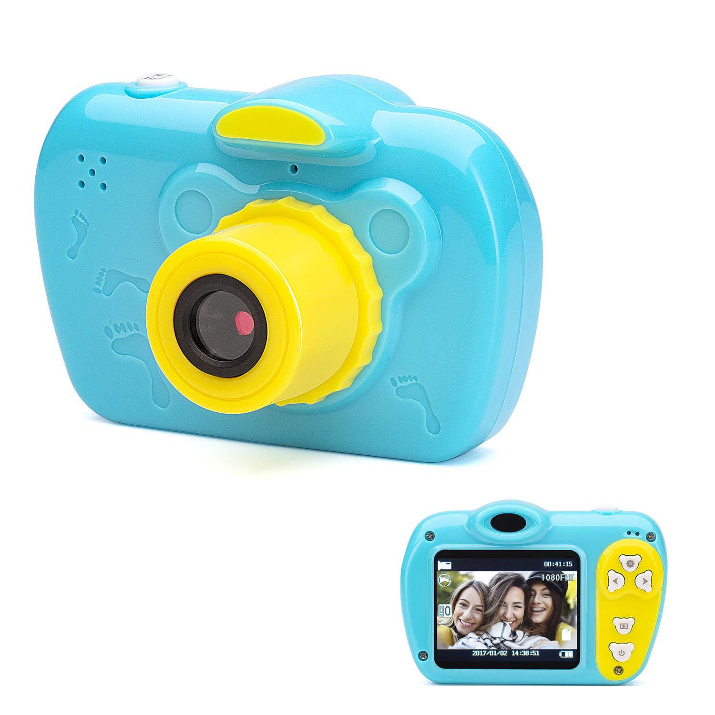 SIKVIO Mini 2.0 Inch Screen Kids Childrens Digital Camera,1080P HD Mini Digital Video Recorder Camcorder Camera with Loop Recording 16GB Cards for Boys Girls by SIKVIO (Image #1)