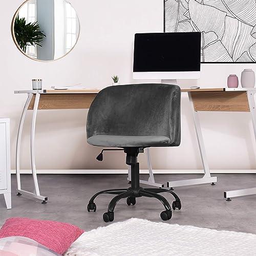 Homylin Office Chair Mid Back Velvet Ergonomic Swivel Adjustable Height Modern Soft Work Computer Desk Chair