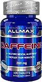 AllMax Nutrition - カフェイン 200 mg。100錠剤