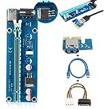 ELEGIANT PCI-E Câble USB 3.0 Express 1X à 16X Câble d'extension - Exploitation minière Carte graphique dédiée Adaptateur de câble d'extension avec câble SATA pour ordinateur de bureau PC