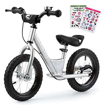 23eaed62626 ENKEEO Balance Bike Adjustable Upholstered Seat with No Pedal, Soft  Handlebars, Enhanced Tyres, Wide Footrests, Carbon Steel Frame and Stand,  ...