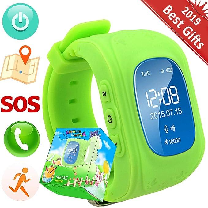 Reloj para Niños,TURNMEON Kids Smartwatch GPS Tracker con Localizador para Niños Niñas SIM Anti-perdida SOS Compatible con Android/iOS Smartphone (Verde ...