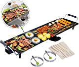 Costway Electric XXL Teppanyaki Table Grill Indoor Kitchen BBQ Hot PLate Barbecue 90x23CM