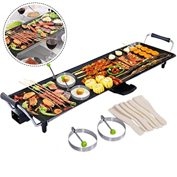 Costway Electric XXL Teppanyaki Table Grill Indoor Kitchen BBQ Hot ...