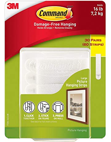 Command libre de daños y el marco Hanging, tiras grandes de imagen (30 pares