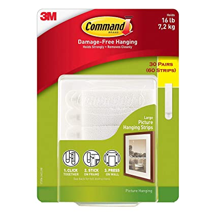 Command Damage Free Picture And Frame Hanging Large Strips 30
