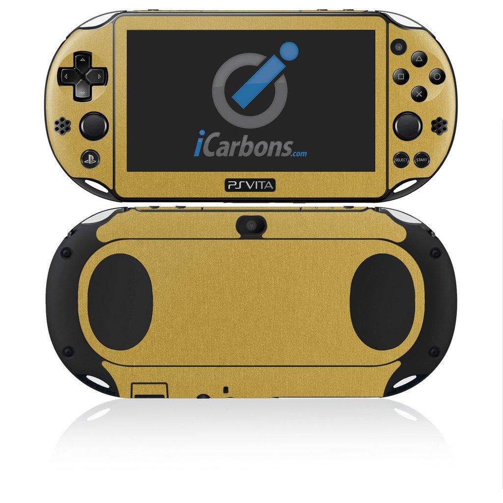 iCarbons Brushed Gold Vinyl Skin for PS Vita Slim (2000) Playstation