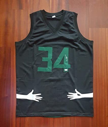 Image Unavailable. Image not available for. Color  Giannis Antetokounmpo  Signed Jersey - JSA Certified - Autographed NBA Jerseys f6226b3a4