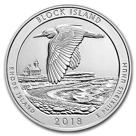 2018 Silver 5 oz ATB Block Island Rhode Island