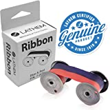 Lathem Mechanical Time Clock Ribbon, Nylon, For Use with Lathem Series 2000, 3000 and 4000, Red/Blue (7-2CN)