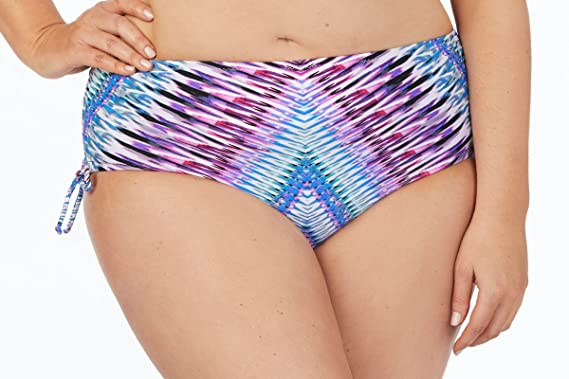 5b3020aa5f8 Amazon.com  Raisins Curve Juniors Plus Size Stolen Heart Tie Side Pacific  Pant Swim Bottom-18W-Purple  Clothing
